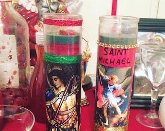 Saint Michael• San Miguel• Prayer Candle