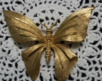 Butterfly Brooch signed BSK