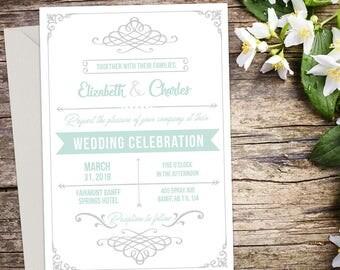 Wedding invitation, Rustic Wedding, Country Wedding, Printable Wedding, Invitation template, Wedding invitation, DIY wedding