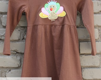 Thanksgiving Dress - Girls Thanksgiving - Turkey Dress - Thanksgiving Shirt - Kids Thanksgiving Dress - Princess Turkey Dress