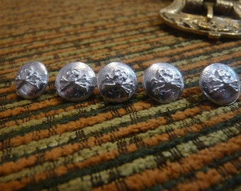 Pewter pirate button. Hand-cast. LARP and reenactment