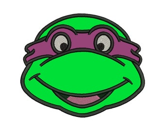 Ninja Turtle Head Applique Design - 4 SIZES
