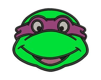 Ninja Turtle Head Applique Design - 4 SIZES