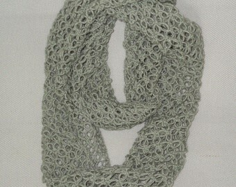 Fair Trade Knit Endless Scarf, Womens Knitted Scarf, Handmade Scarf, fair trade scarf, fairtrade scarf, hand made scarf, tube scarf, lace
