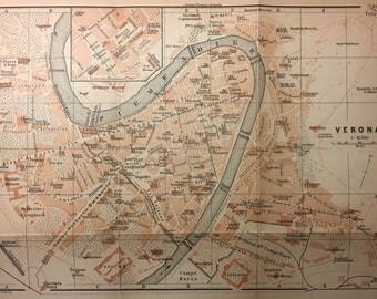 Vintage Map of Verona