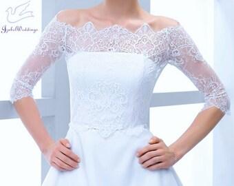Bridal bolero lace