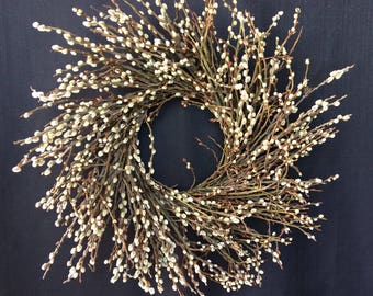 pussy willow wreath on sale - Pussy Willow Tree