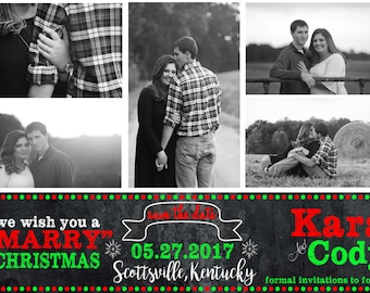 Christmas Card, Save the Date, Marry Chrtistmas