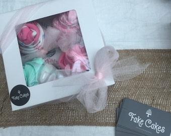 Baby Girl Onesie Box of Cupcakes