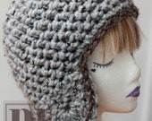 CROCHET PDF PATTERN: Textured Ear Flap Hat