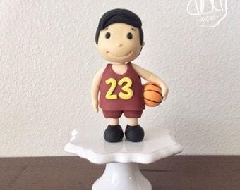 Edible Fondant Basketball Player Cake Topper