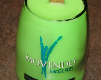 Recycled Wine Bottle Candle (Watermelon Scent)