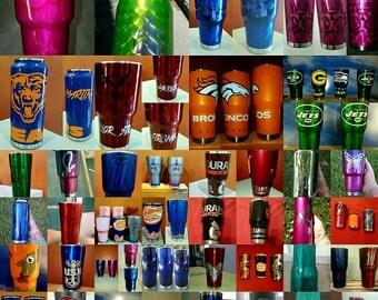 Custom painted Yeti cups