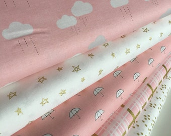Pink and Gold Handmade Cot Quilt