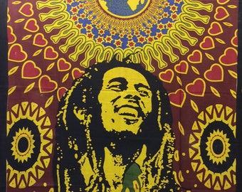 Hand Made Single Bed Bob Marley Throw/Wall hanging(02)