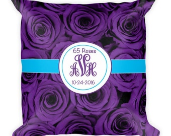 65 Roses Square Pillow