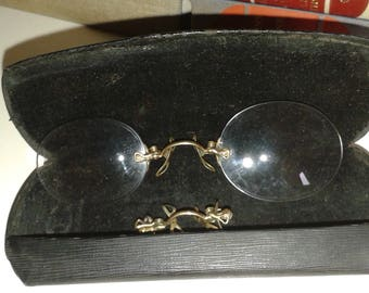 Victorian Gold Plated Pince Nez Spectacles
