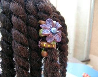jewel of dreadlocks hair frizzy Liana flower purple