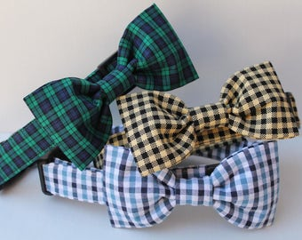 Dog Bowtie - Dog Collar Accesories - Male Dog Bow Tie - Bowties - Bow Ties For Dogs- You Pick Fabric- Note to seller during checkout.
