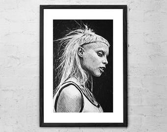 Yolandi Visser - Die Antwoord - Illustration - Yolandi Visser Portrait - Yolandi Visser Poster - Zef - Ninja - Rap - Hip Hop - Zefside - DJ