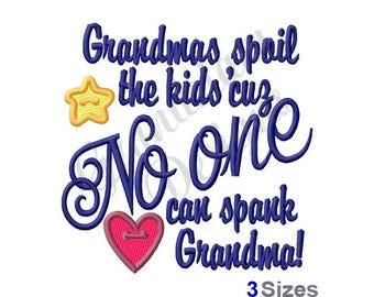 Grandma Spoils The Kids - Machine Embroidery Design