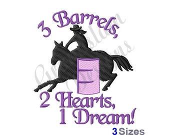 Barrel Racing Horse - Machine Embroidery Design