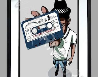 Rude Boy. A3 Print , Graphic . Art . 2 Tone . Poster