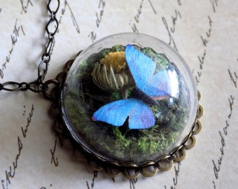 Have Courage and Be Kind, Terrarium Necklace, Live Action Cinderella, Cinderella's Butterfly, Little Papillon