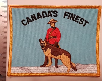 Canada - RCMP Canada's Finest Patch  (Royal Canadian Mounted Police)