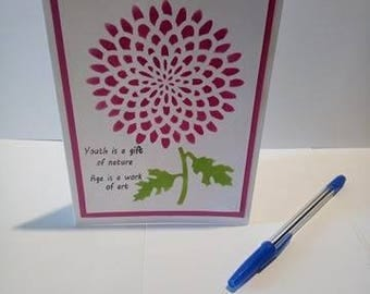 birthday card, greeting card, mothers day card, blank card, gift for her, handmade card, just to say, best wishes, stencil card, custom card