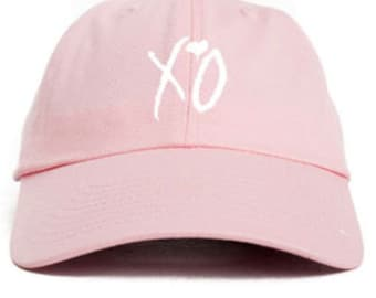 XO Hugs n Kisses Custom Unstructured Pink Dad/Mom Hat Cap New