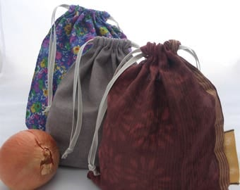 3 pockets, loose reusable bags Kit