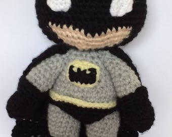 batman- amigurumi, crochet, plush, toy, handmade