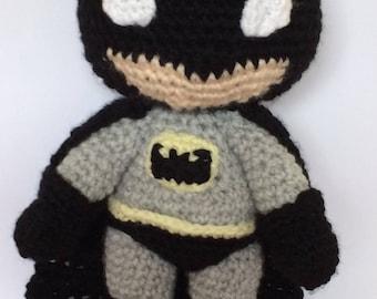 batman amigurumi crochet plush toy handmade