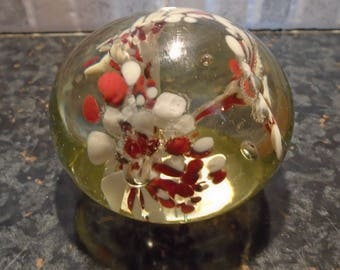 Floral Small Glass Paper Weight