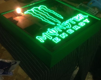 Monster Energy Remote Controlled Color Changing led lit mirror