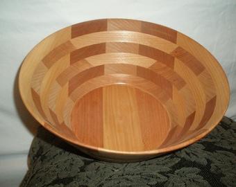 Wood Salad  Bowl #38 free shipping