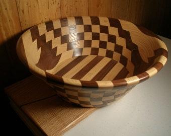 Wood Salad  Bowl #44 free shipping