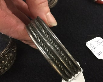 Traditional Silver Navajo Bracelet -Vintage