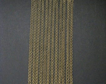 Link Cable Chain Necklace, Antique Bronze, Set of 12 (45.6cm Long, 0.4cm x 0.3cm)