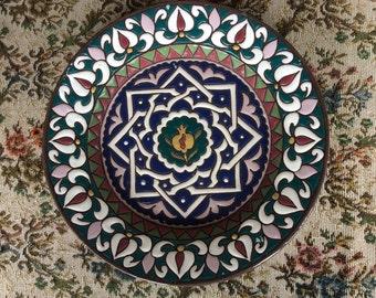 Vintage artisan pottery plate