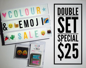 2 SET BUNDLE - Emoji AND Pastel colour letter pack - 170 pieces!!