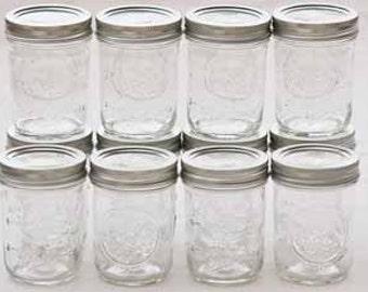8oz soy mason jar candles