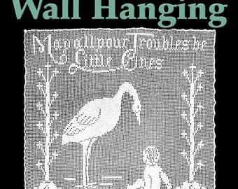 Stork Wall Hanging Filet Crochet Pattern