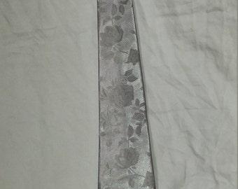 Silver Silk Men's Tie