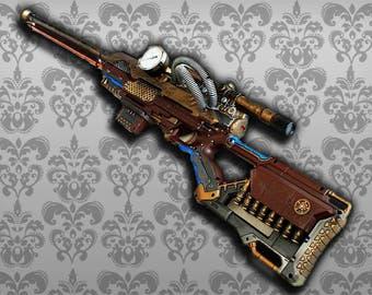 Steampunk sniper rifle fucile cecchino da precizione
