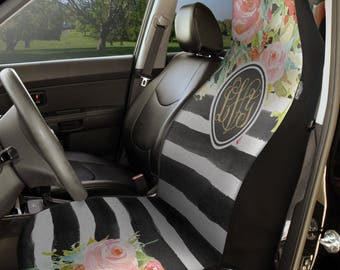 Personalized Car Seat Covers, Monogram Universal Seat Covers - Set of 2, Car Seat Cover, Car Front Bucket Seats Cover