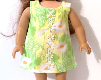 18 Inch Doll Clothes Dress Using Lilly Pulitzer Fabric Shift Dress With DaisyAndButterflies Fits Like American Girl Doll Clothes