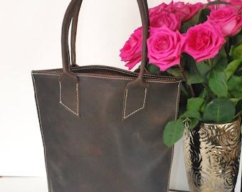 Leather Tote bag. Leather Handbag. Custom  Handbag.Leather Tote bag. Distressed Leather Bag. . Tote bag.Leather Tote