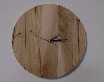 Handmade Solid Ash Wood Clock 370mm Diameter Free Delivery